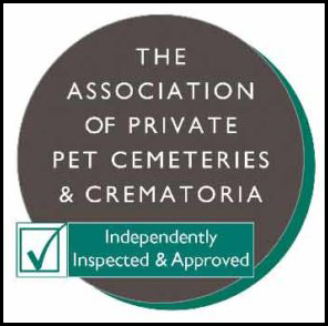 Independently inspected and approved by the Association of Private Pet Cemeteries and Crematoria