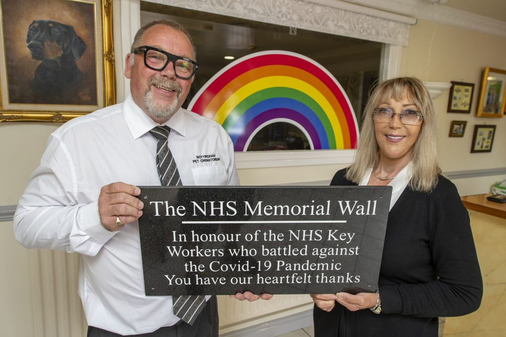 NHS Memorial Wall at Nottingham Pet Crematorium